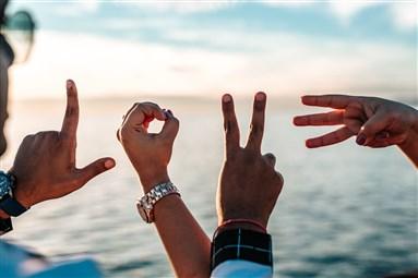 hands spell love
